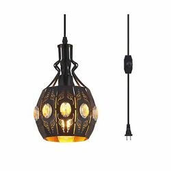 YLONG ZS Hanging Lamps Swag Lights Plug in Pendant LightRetro StyleVintage ... $55.66