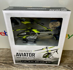 Protocol Aviator RC Helicopter Black And Green New Sealed In Box $30.00