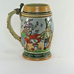 Antique German Stein Girmscheid? GKGnomes Playing and Dancing $49.99