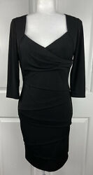 White House Black Market Black Cocktail Dress Instantly Slimming Womens sz 6