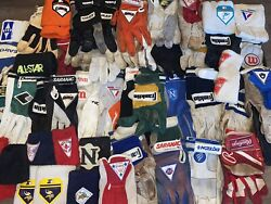 #3 HUGE LOT quot;PLAYER UNKNOWNquot; WORN FOOTBALL BASEBALL GLOVES WRISTBANDS TOWELS $299.99