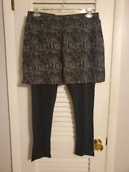 New Legacy Skirted Leggings Large Gray Abstract $20.00