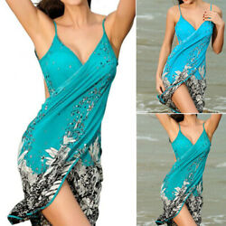 Women Summer Sexy Bikini Bathing Cover Up Swimwear Beach Dress Sarong Wrap Hot $13.69