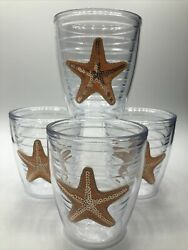 Tervis Tumbler Wine Set of 4 12 oz. Starfish Drinking Cups $34.96