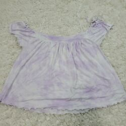 AEO American Eagle soft and sexy shirt pink white Women#x27;s Size M $14.95