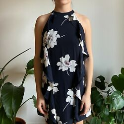 Eclair Navy Floral Dress Size XS NWT $18.00
