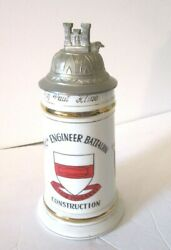German Made 97th Engineers Battalion Stein ID#x27;ed to Major Girlie Bottom $99.99