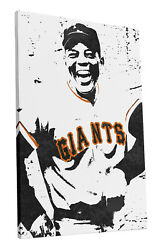 Willie Mays San Francisco Giants Art Wall Room Canvas Poster CANVAS $99.99
