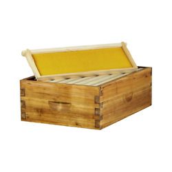 Hoover Hives Wax Coated 8 Frame Medium Super Box w Frames and Foundations $53.00