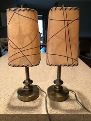 Vintage Pair Mid Century Lamps $148.00