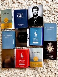 11 Designer Men's Fragrance EDT Samples Gaultier R Lauren Dolce amp; Gabbana etc.