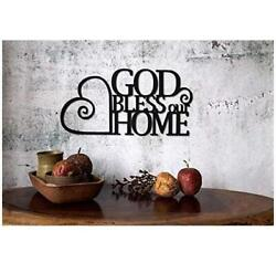 Christian Wall Art God Bless Our Home 2 Pack $19.99