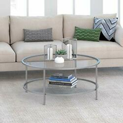 Round coffee table Silver $196.23