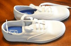 Keds Womens Champion Low Top Lace Up Fashion Sneakers White Canvas SZ 3M $14.95