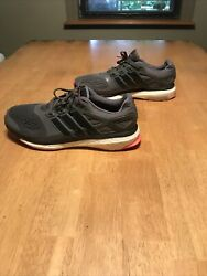 adidas Energy Boost Men size 11 Gray Anthracite Red Pro Running Trainers $25.00