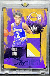 Lonzo Ball 2017 18 Panini Court Kings Art Nouveau Sapphire 25 Rookie RC
