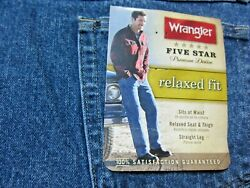 Wrangler Five Star Mens Jeans Size 42x32 Relaxed Fit Straight Leg Model W976DS2 $16.95