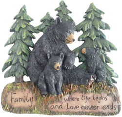 Rustic Home Decor Kitchen Signs Black Bear Decor Family Wall Plaque Made From $23.99