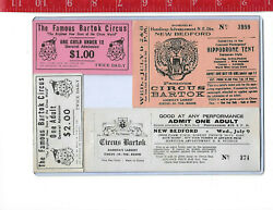 vintage lot Famous Bartok Circus tickets $10.00