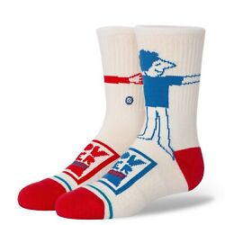 Stance Kids Socks #x27;Hug Time Kids#x27; Youth Large 3 5.5 Crew New With Tags $9.99