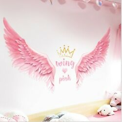 Removable Wall Decal angel wings Girls Bedroom Sticker Home Living Room Decor $13.99
