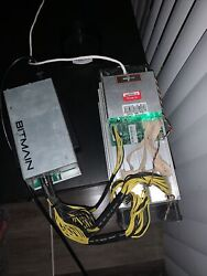 S9 ANTMINER 13.5 Th s BITCOIN BTC MINER And POWER SUPPLY And Cord INCLUDED $700.00