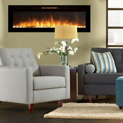 Regal FlameAstoria 60quot; Built In Ventless Heater Recessed Wall Fireplace Pebble $899.99
