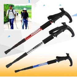 Anti Shock Walking Canes Nordic Walking Sticks Hiking Poles Telescopic Trekking $18.05
