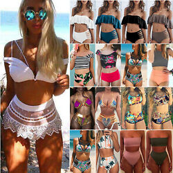 Women Push Up Bikini Set High Waisted Swimsuit Bathing Suit Swimwear Beachwear $13.20