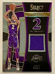 LONZO BALL 2017 18 Panini Select Draft Selections Jersey Rookie Card MINT 🔥RC
