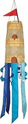 Windsock 40quot; 3D Sandcastle with Colored Streamers. Have a little beach at home $21.00