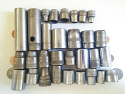 Vintage Sockets 30 count Mixed lot various brands $12.00