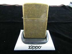 ZIPPO REG. ANTIQUE BRASS WINDPROOF LIGHTER #201FB NIB Z353 $18.00
