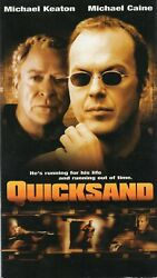 QUICKSAND vhs Michael Keaton framed for murder needs Michael Caine#x27;s help $6.99
