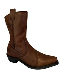 Harley Davidson Boots 85123 Brown Leather Studded Harley Boots Women's 6.5M $79.95