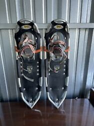 Atlas Model No. 1030 Spring Loaded Orange Aluminum Snowshoes $99.00