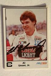 Indy 500 Champion Al Unser Jr. signed autographed 1985 A amp; S Racing card NICE $7.99