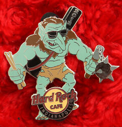 Hard Rock Cafe Pin Indianapolis Gaming Gen Con Troll ogre monster Flail weapon $14.99
