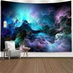 Blue Hole Galaxy Sky Tapestry Wall Hanging Hippie Room Art Blankets Home Decor $9.49