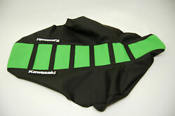 New GREEN AND BLACK Ribbed Seat cover TALL KX65 KLX110 2000 2001 2002 2003 2004 $40.79