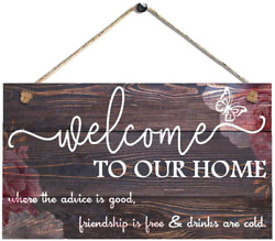 ROONASN Welcome to Our HomeRustic Welcome SignWooden Home Signs Housewarming $11.99