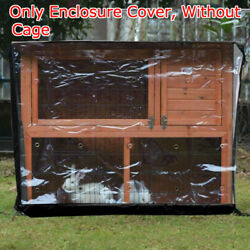 Pet Rabbit Hutch Cage House Enclosure Bunny Ferret Chicken Coop with Cover Roof. $40.27