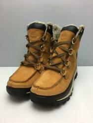 Timberland Trekking Snow Moccasin Lace Up Bore 7M Leather Ocher Size 7M Boots $230.48