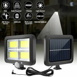 Outdoor Commercial Solar Street Light IP65 Waterproof Dusk to Dawn Lamp W Remote