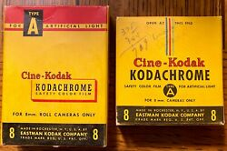 VINTAGE BOXES 1950#x27;#x27;S OF KODACHROME 8MM FILM. NO RESERVE $30.00