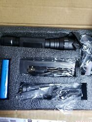 1200 Lumen Tactical Flashlight Rechargeable with pic Rail Mount Remote Switch $32.99