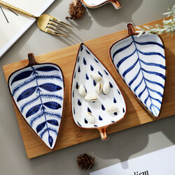 quot;Little Leavesquot; Small Dishes Side Dish Saucer Vinegar Soy Seasoning Home Plates $39.49