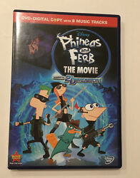 Phineas And Ferb The Movie: Across The 2nd Dimension DVD With 8 MUSIC TRACKS $6.95