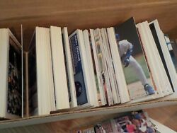 Large Lot of Baseball Cards Mostly 90s 2 Vintage Boxes of Cards Assorted $10.00