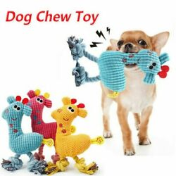 Dog Chew Toy Squeaky Plush Dog Toy for Aggressive Chewers with Chew Pet Toys US $6.36
